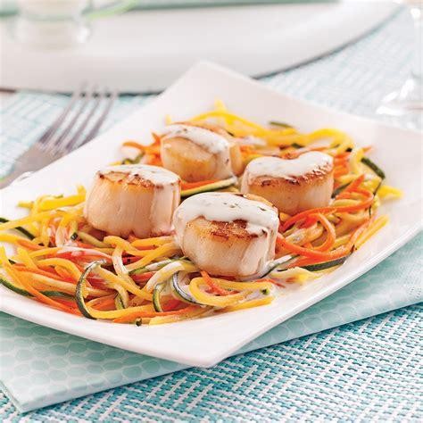 cuisine boursin pétoncles au boursin cuisine et julienne de légumes pour