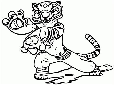 Kung Fu Panda Tigress Coloring Pages