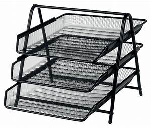 office depot executive mesh 3 tier letter tray black ebay With mesh letter tray