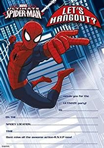 Marvel Ultimate Spider  Ee  Man Ee   Party Invitations Pack Of