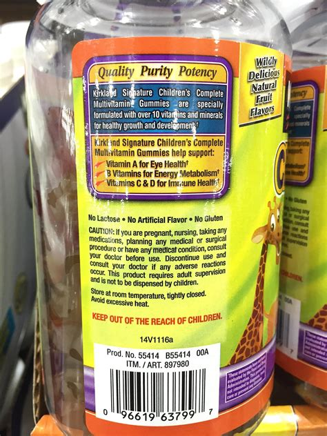 kirkland childrens complete multivitamin gummies product
