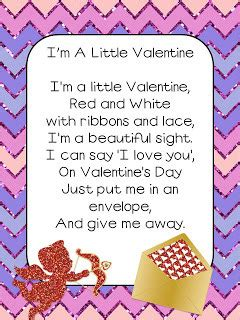 Valentine's Day Poem Preschool