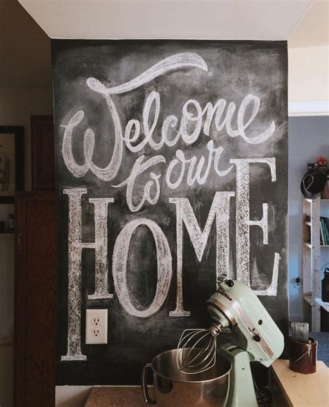 chalkboard kitchen wall ideas welcome to our house together after 6 months of