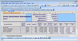 simple stock portfolio management by excel guidance blog With sample investment portfolio templates