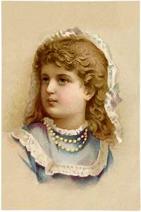 Vintage, Girl, With, Pearls