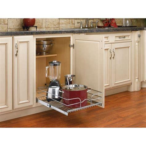 home depot kitchen storage rev a shelf 7 in h x 17 75 in w x 22 in d base cabinet 4265
