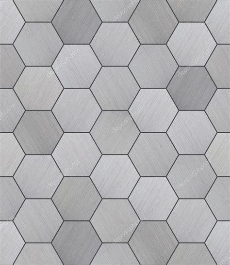 alte fliesen suchen hexagonal aluminium gekachelt nahtlose textur stockfoto