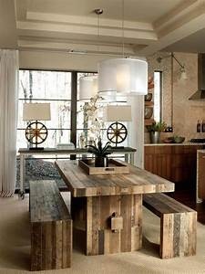 23 cool rustic dining room designs interior god for Rustic dining room design