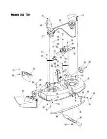 Yardman Mower Deck Belt Diagram by Deck Chute 760 779 Diagram Amp Parts List For Model 760 Mtd