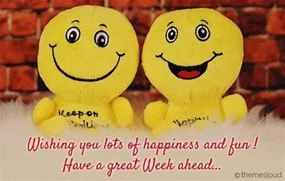 Week Wish Happy Ahead Card Greetings Everyone