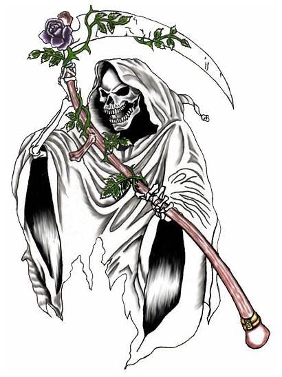 Reaper Grim Tattoo Drawings Transparent Tattoos Pngio