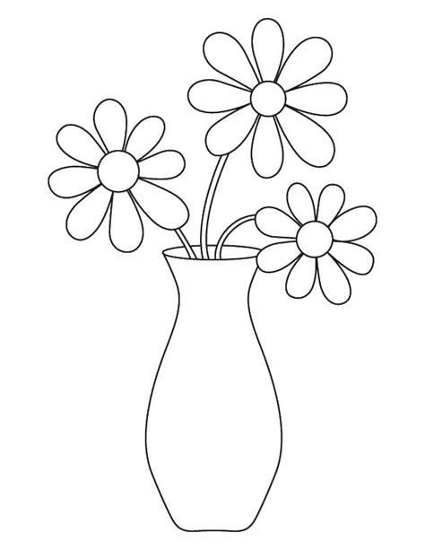 empty flower vase coloring page coloring pages