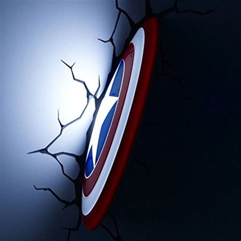 captain america shield 3d light fx deco led wall