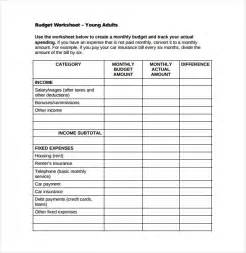 Monthly Budget Worksheet Template Free PDF
