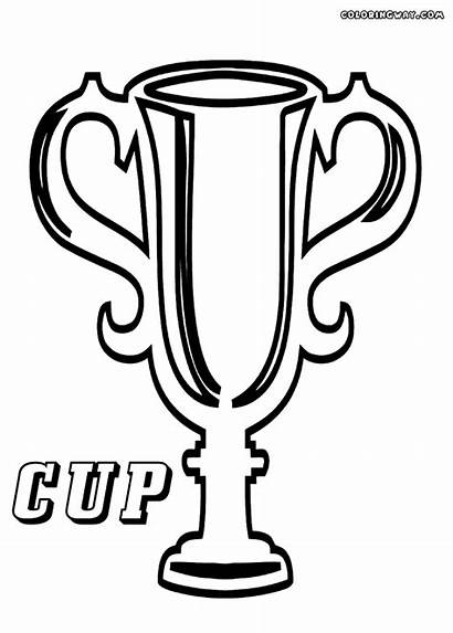 Cup Coloring Winner Pages Sheet