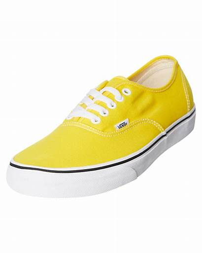Vans Mens Yellow Vibrant Authentic Shoe Sneakers