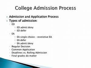 ppt rae ann m dibaggio senior associate director office With college admission process