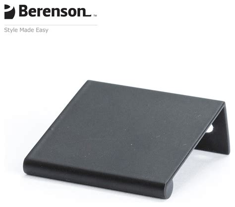 contemporary cabinet finger pulls 1056 4055 p black finger pulls by berenson hardware