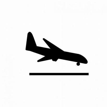 Landing Airplane Icon Aircraft Icons Plane Take