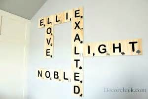 scrabble wall art decorchick With best brand of paint for kitchen cabinets with baby nursery letters wall art