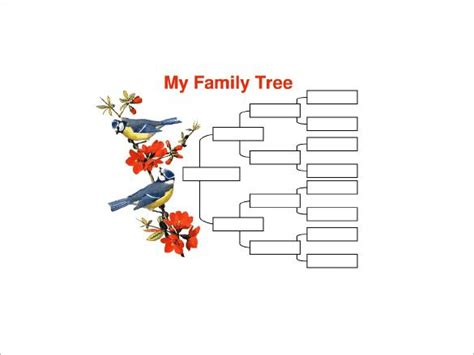 generation family tree template   word