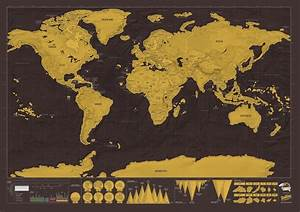 World Scratch Map Deluxe Edition | Stanfords