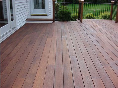 mahogany decking treated  cabots australian timber