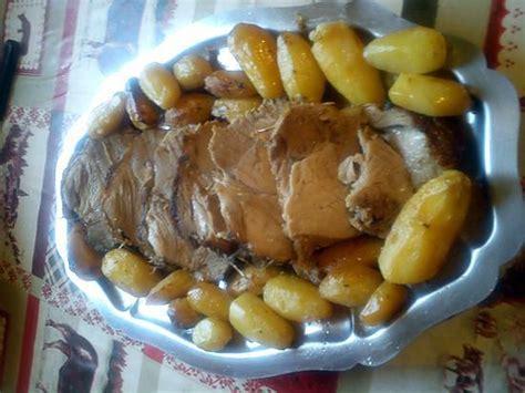recette de r 244 ti de porc au thym avec petites pommes de