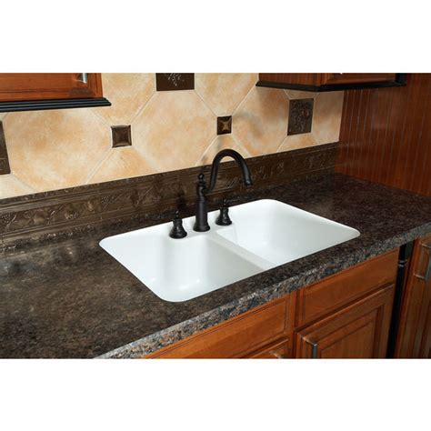 kitchen sinks hton double equal bowl under mount sink