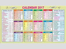 Calendar Of Government Holidays 2017 Printable Calendar 2018