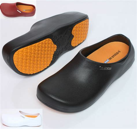 slip mens shoes chef clogs water oil safety hospital