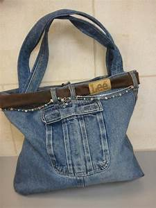 Recycled Denim Purse Patterns | Recycled Jean Purse by djd1959 | Sewing Ideas | DIY Denim crafts ...