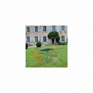 Fermob Salon De Jardin : salon de jardin fermob bistro table l97 l57 cm 4 chaises plantes et jardins ~ Teatrodelosmanantiales.com Idées de Décoration