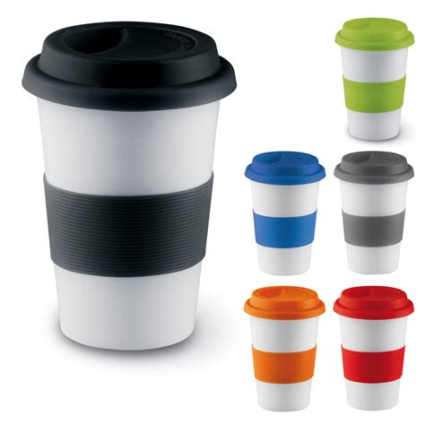 Ceramic Thermal Insulated Cup Coffee Tea Plastic Travel