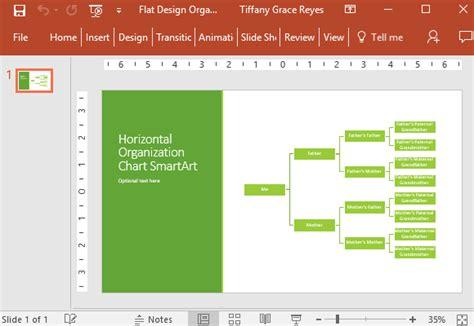 flat design organization chart for powerpoint