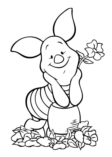 winnie pooh piglet coloring page coloring pages