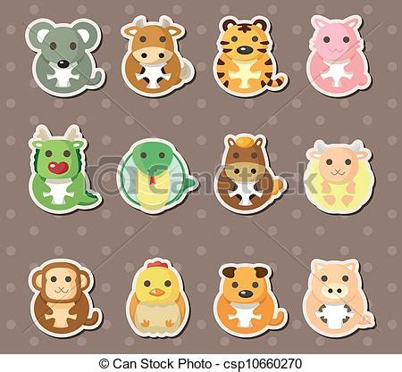 chinese zodiac animal stickers