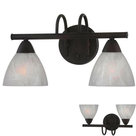Bathroom Vanity Light Fixture by Rubbed Bronze 2 Light Bathroom Vanity Wall Lighting