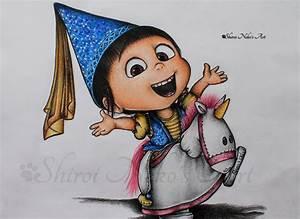 Despicable Me Drawing Agnes By Shiroinekosart On Deviantart
