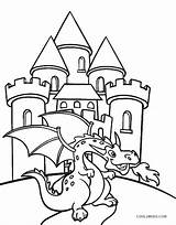 Castle Coloring Pages Dragon Printable Cool2bkids sketch template