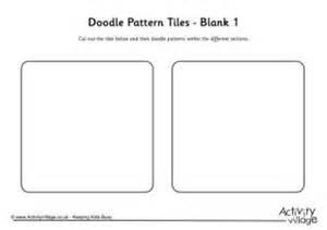 zentangle tile template doodle pattern tiles