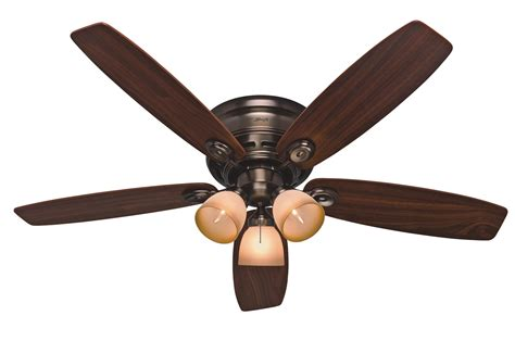 hunter 52 quot low profile iv plus ceiling fan 23908 in