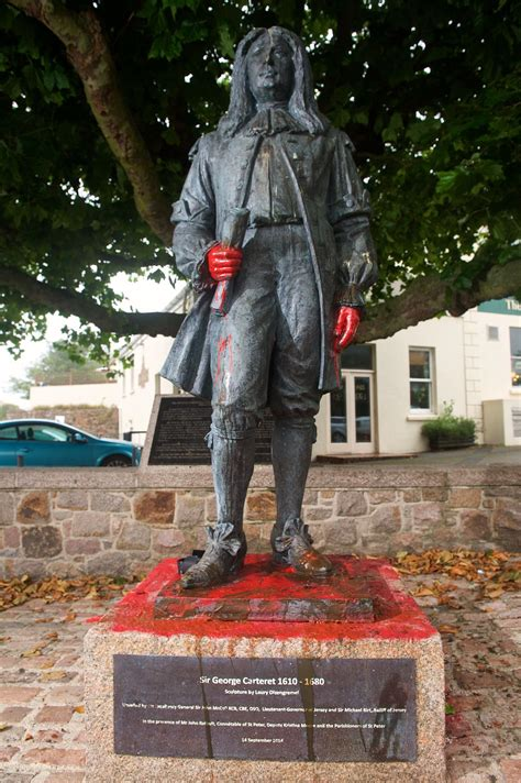 Statue is vandalised for the second time | Jersey Evening Post