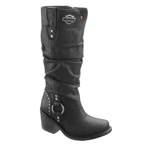 Harley Davidson Women Jana Black Boots Inch Shaft