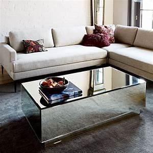 West elm geo mirror storage coffee tablejpg essex for West elm mirrored coffee table