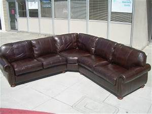 Uhuru furniture collectibles sold thomasville leather for Thomasville sectional sofa leather
