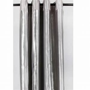 Rideau Epais Pas Cher : rideau gris argent pas cher ~ Premium-room.com Idées de Décoration