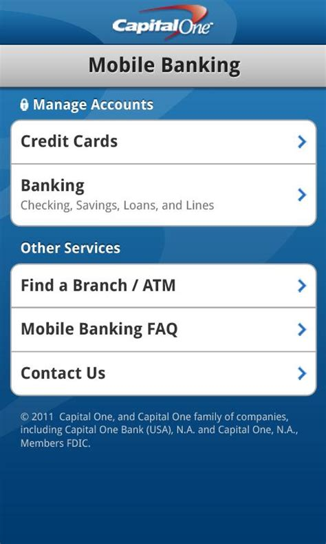 Can i apply for another capital one credit card. Capital One Releases Android App For Mobile Banking