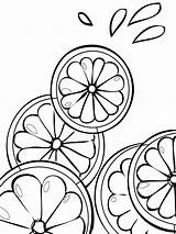 Fruits Citrus Coloring Pages Print Printable Recommended Colors Favorite sketch template
