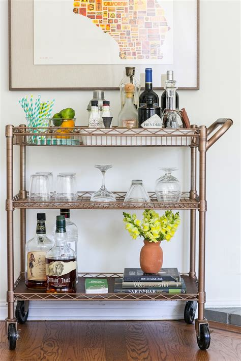 Bar Cart by Diy Bar Cart Transformation The Effortless Chic